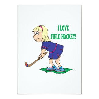 I Love Field Hockey Card