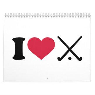 I love Field hockey clubs Calendar