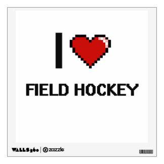 I Love Field Hockey Digital Retro Design Room Graphics