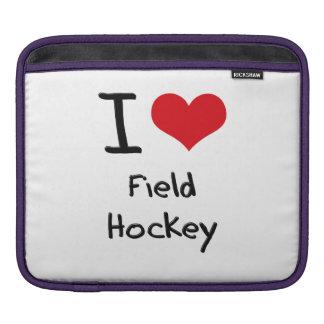 I Love Field Hockey iPad Sleeve