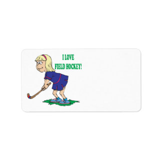 I Love Field Hockey Label