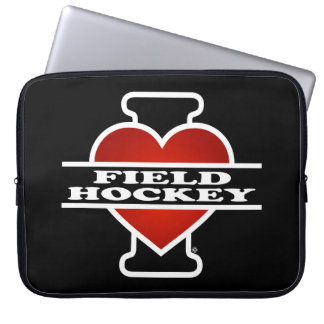 I Love Field Hockey Computer Sleeve
