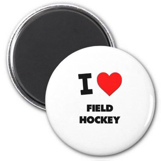 I Love Field Hockey Magnets