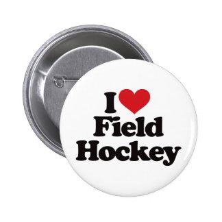 I Love Field Hockey Pinback Button
