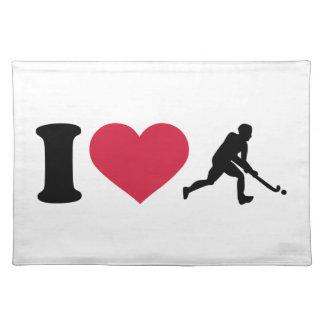I love Field hockey player Place Mat
