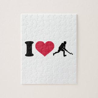 I love Field hockey player Puzzles