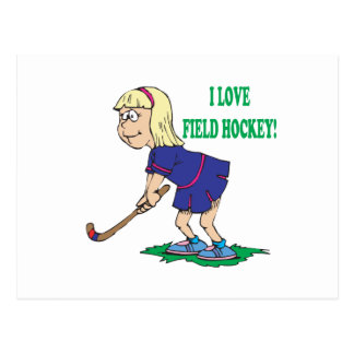 I Love Field Hockey Postcard