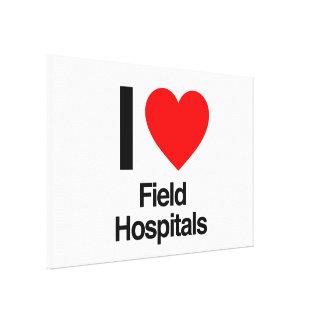 i love field hospitals canvas prints