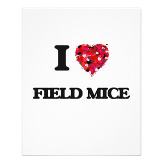 "I love Field Mice 4.5"" X 5.6"" Flyer"