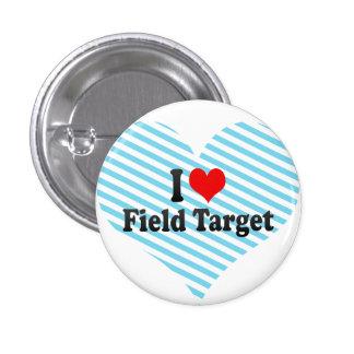 I love Field Target Pinback Button
