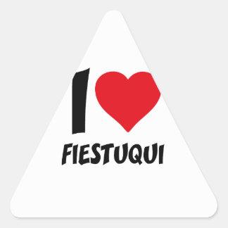 I love fiestuqui triangle sticker