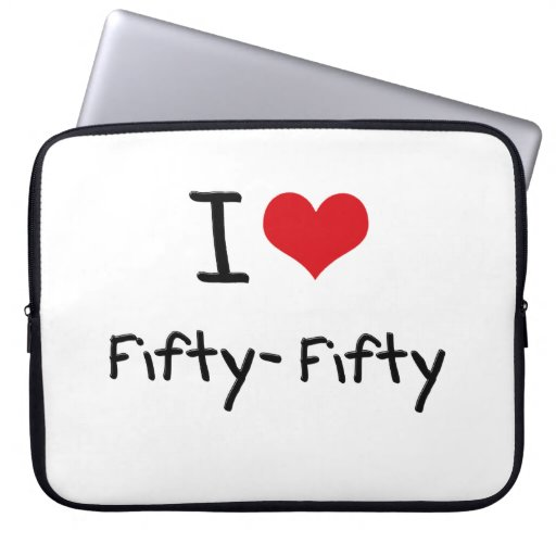 I Love Fifty-Fifty Laptop Computer Sleeve