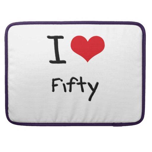 I Love Fifty Sleeve For MacBooks