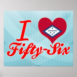 I Love Fifty-Six, Arkansas Posters