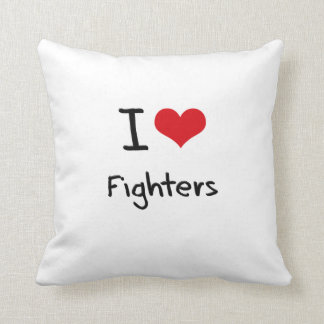 I Love Fighters Throw Pillows