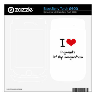 I Love Figments Of My Imagination Skins For BlackBerry