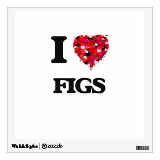 I Love Figs Wall Decals