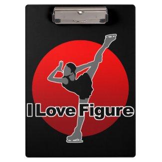 I Love Figure Clipboard