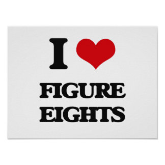 I love Figure Eights Poster