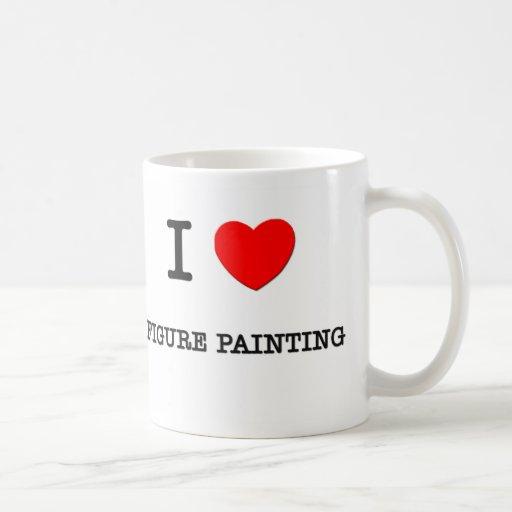 I LOVE FIGURE PAINTING CLASSIC WHITE COFFEE MUG