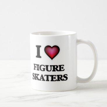 Beach Themed I love Figure Skaters Coffee Mug