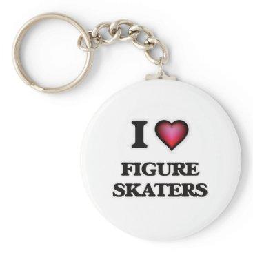 Beach Themed I love Figure Skaters Keychain