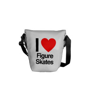 i love figure skates messenger bag