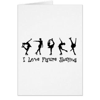I love figure skating - black card