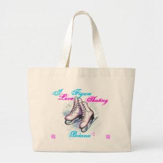 I love Figure Skating, Briana Jumbo Tote Bag