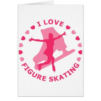 I Love Figure Skating Card