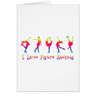 I love figure skating - colorful card