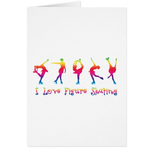 I love figure skating - colorful cards