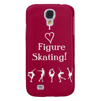 I Love Figure Skating - Cranberry Phone Case Samsung Galaxy S4 Covers