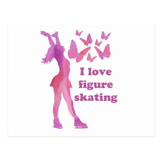 I Love Figure Skating Giftware Postcard