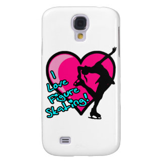 i love figure skating girl, blue samsung galaxy s4 cover