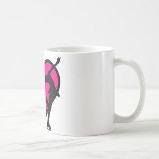 i love figure skating girl, blue coffee mugs
