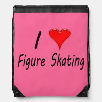I Love Figure Skating, Heart Backpack