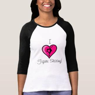 """I Love Figure Skating"" - Hot Pink Heart - WOMENS T Shirts"