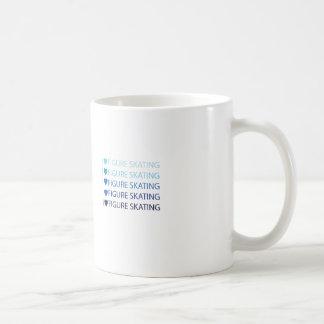 I love figure skating mug blue