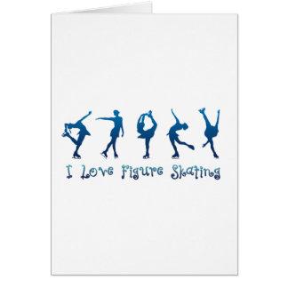 I love figure skating - navy card