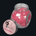 "I Love Figure Skating - Personalize Candy Jar<br><div class=""desc"">Personalize this figure skating glass container and fill with candy,  gum,  mints... or anything else you want! Pink Lid with Heart &amp; Skater. Comes with Cotton Candy Flavor Pink jelly Belly Jelly Beans- then refill with anything!</div>"