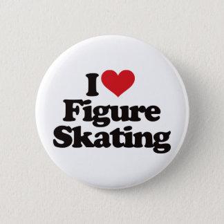 I Love Figure Skating Pinback Button