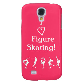 I Love Figure Skating - Pink Phone Case Galaxy S4 Covers