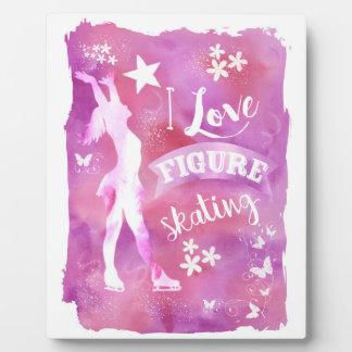 I LOVE FIGURE SKATING PLAQUE