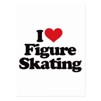 I Love Figure Skating Postcard