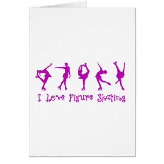 I love figure skating - purple card