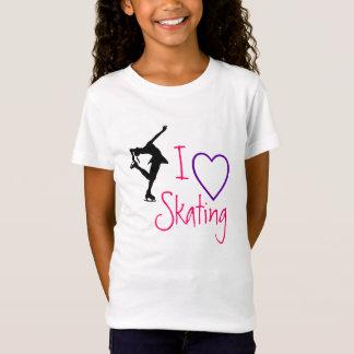I love Figure Skating - purple heart T-Shirt