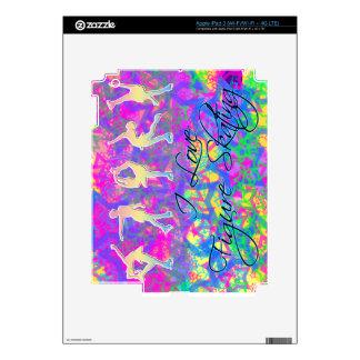 I Love Figure Skating & Rainbow Stars iPad 3 Decal