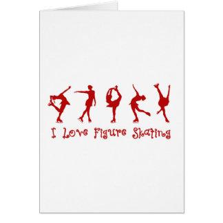 I love figure skating - red card