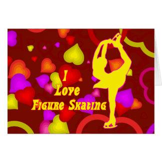 I Love Figure Skating Retro Card